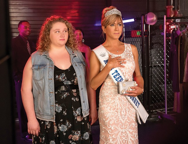 Danielle Macdonald and Jennifer Aniston in Dumplin' - NETFLIX