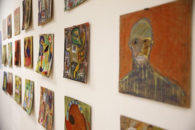 Artwork by Karl Mullen, shown on the walls of Get Hip - CP PHOTO: JARED WICKERHAM