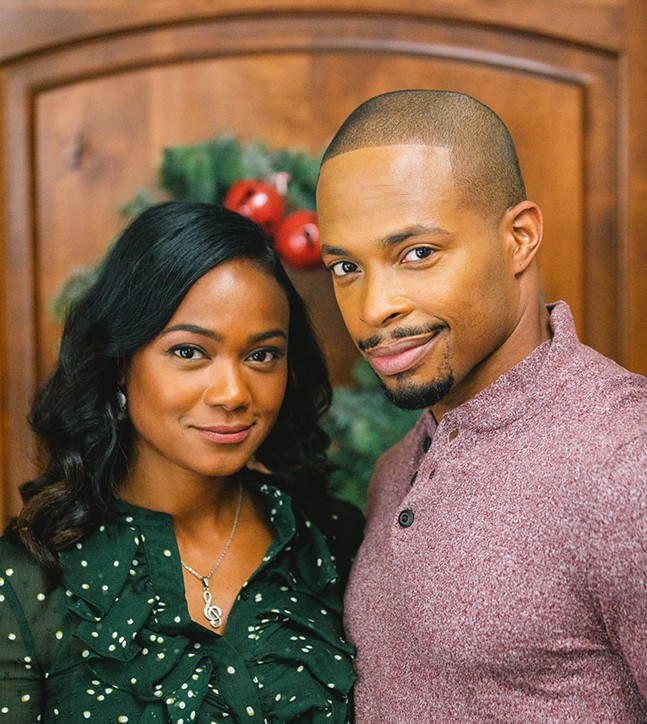 Tatyana Ali and Cornelius Smith Jr. in Jingle Belle - PHOTO: LIFETIME