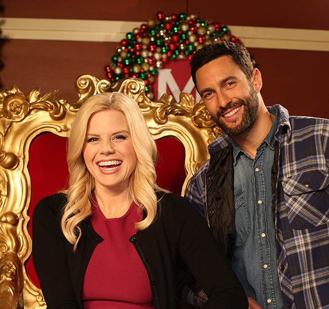 Megan Hilty and Noah Mills in Santa's Boots - PHOTO: LIFETIME