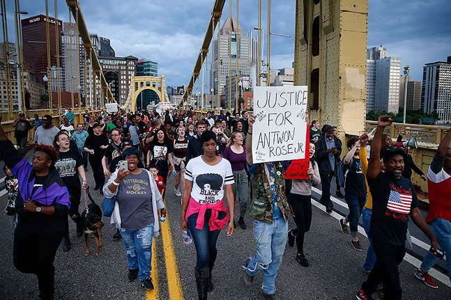 June protest in Pittsburgh following Antwon Rose Jr.'s death - CP PHOTO: JARED WICKERHAM