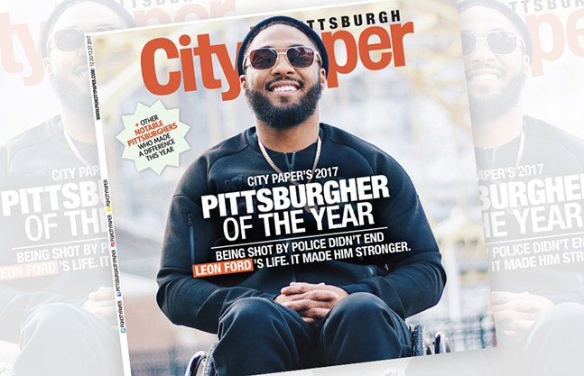 Leon Ford, Pittsburgh City Paper's 2017 Pittsburgher of the Year - COVER PHOTO: CHANCELOR HUMPHREY