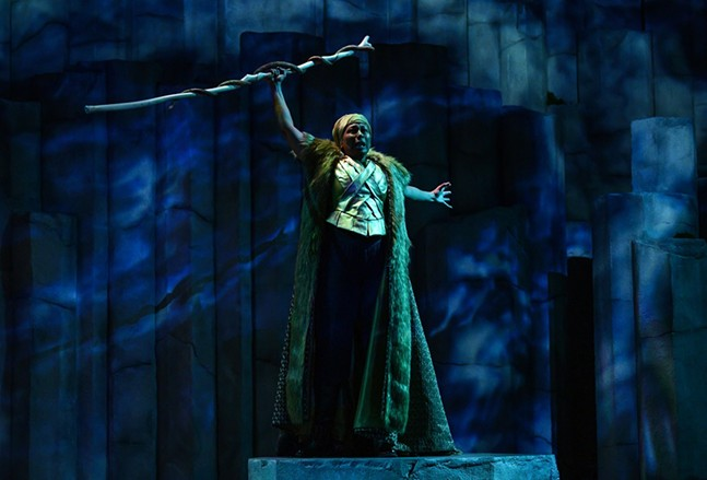 Tamara Tunie as Prospero in The Tempest. - MICHAEL HENNINGER