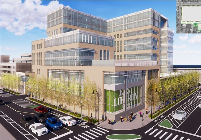 LG Realty's latest proposal for the former Penn Plaza site - PHOTO: MV+A ARCHITECTS