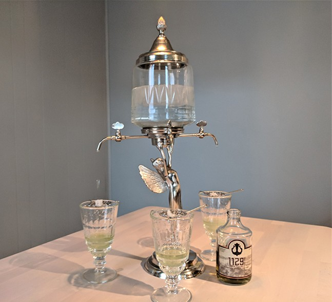 Lawrenceville Distilling Co.'s cold water fountain and its 1129 Ridge Ave. absinthe - CP PHOTO: MAGGIE WEAVER