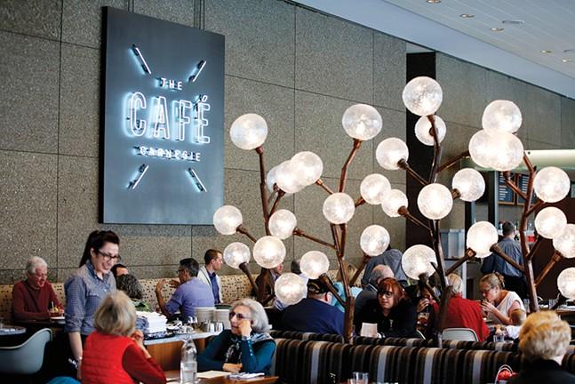 Diners inside The Café Carnegie - CP PHOTO: JARED WICKERHAM
