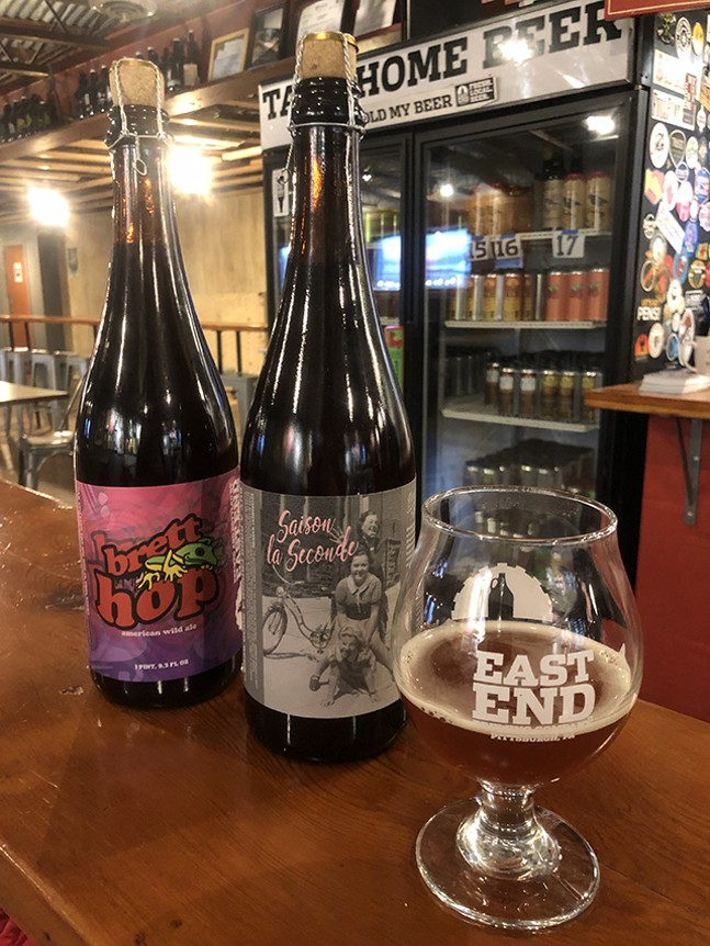 Brett Hop and Saison La Seconde Bottles - CP PHOTO: JORDAN SNOWDEN