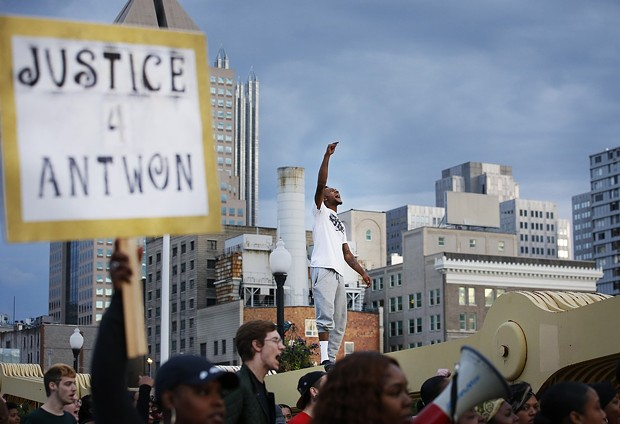 Protest following the shooting death of Antwon Rose II - CP PHOTO: JARED WICKERHAM