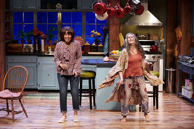 Tamara Tunie and Laurie Klatscher in The Roommate - PHOTO: KRISTI JAN HOOVER
