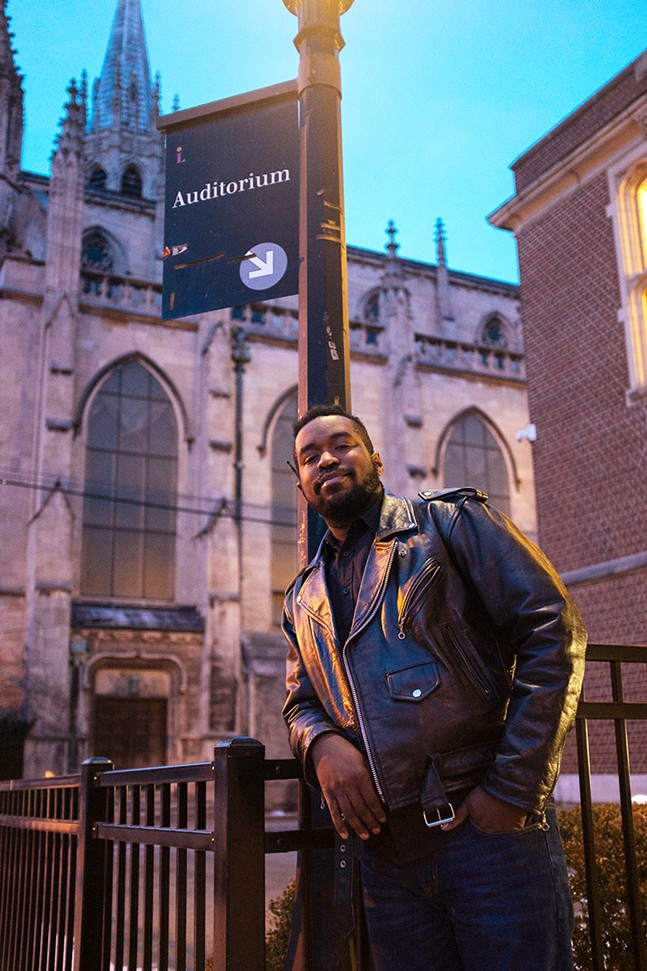 T.J. Parker-Young at the Homewood Library - CP PHOTO: JARED MURPHY