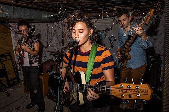 AllegrA performs at a house show - PHOTO: CJ SIMAVI