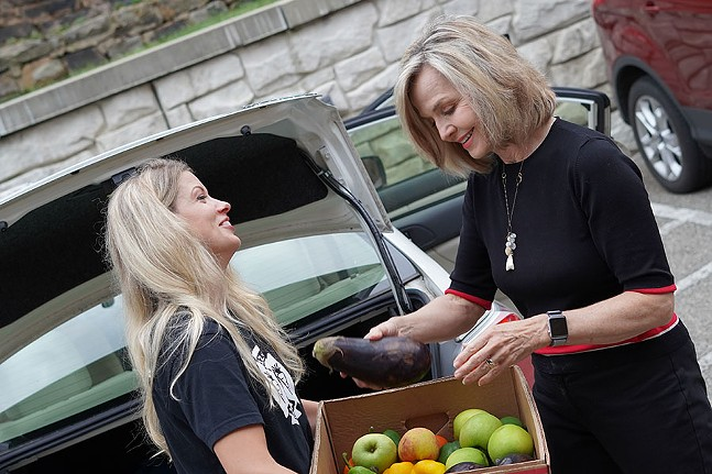 "Host of ""Food Rescue Stories"" Katelyn Lesk and Sally Wiggin. - PHOTO: 412 FOOD RESCUE"