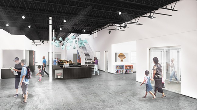 Rendering of Contemporary Craft Lawrenceville space - CP PHOTO: CONTEMPORARY CRAFT/ GBBN ARCHITECTS