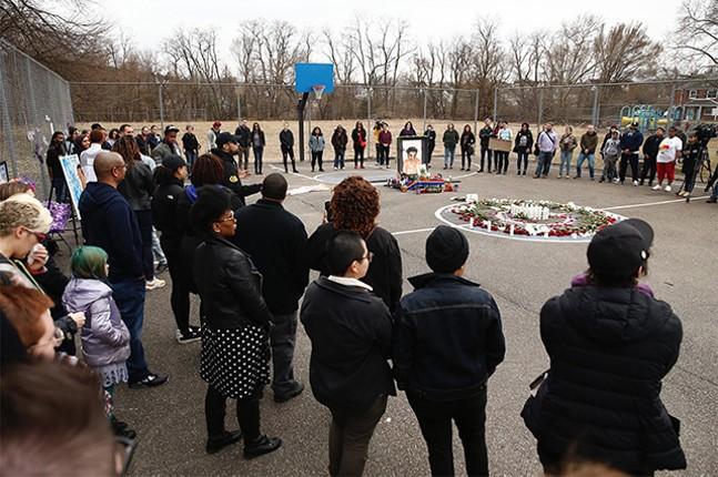 A vigil for Antwon Rose II in Rankin's Hawkins Village - CP PHOTO: JARED WICKERHAM
