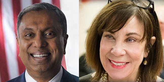 Republican D. Raja and Democrat Pam Iovino