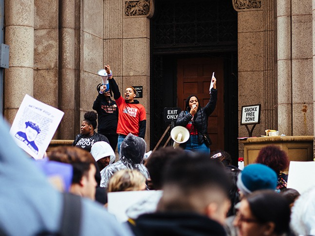 Student-led protest in Downtown Pittsburgh on Mon., March 25 - CP PHOTO: JARED MURPHY