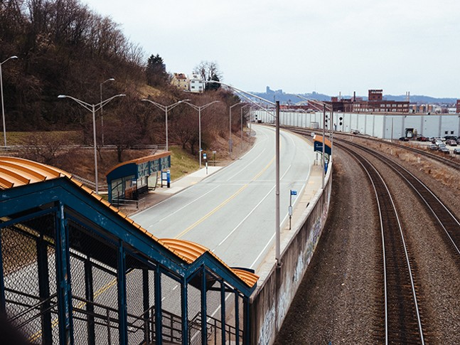 Herron Busway Station in Polish Hill - CP PHOTO: JARED MURPHY