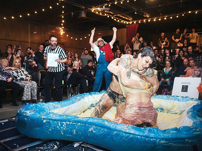 Pudding wrestling at Spirit - CP PHOTO: JARED MURPHY