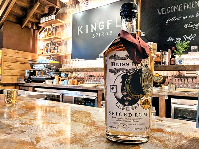 Spiced rum at Kingfly Distillery - CP PHOTO: MAGGIE WEAVER