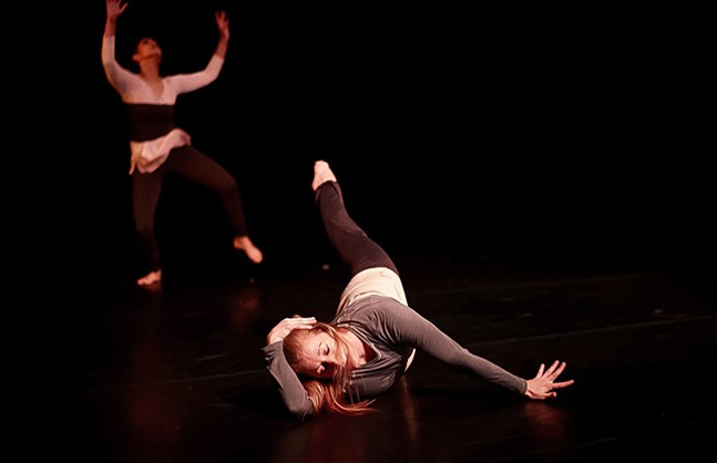 "Shana Simmons and Brady Sanders in ""Eliminate the Pendulum"" - JOSH PACHECO PHOTOGRAPHY"