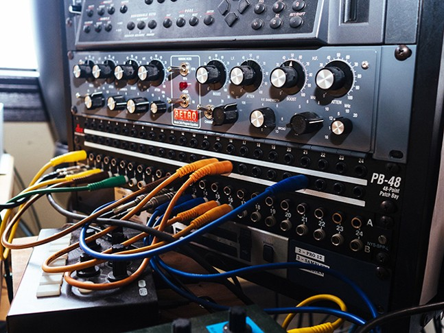 Retro Stereo EQ and E-MU E6400 Ultra Sampler in Machine Age - CP PHOTO: JARED MURPHY