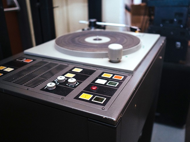 An EMT 950 Turntable in Machine Age - CP PHOTO: JARED MURPHY