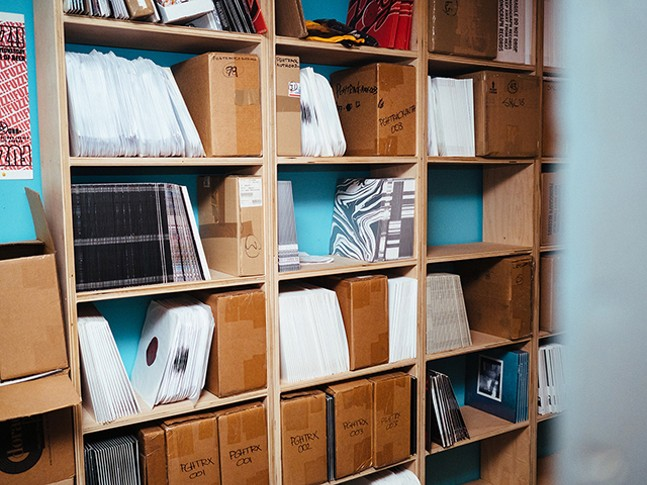 A wall of records in Machine Age - CP PHOTO: JARED MURPHY