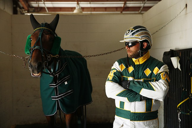 In the stables at The Meadows Racetrack & Casino - CP PHOTO: JARED WICKERHAM