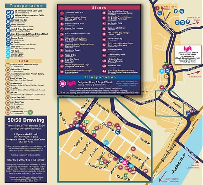 Millvale Music Festival 2019 Map