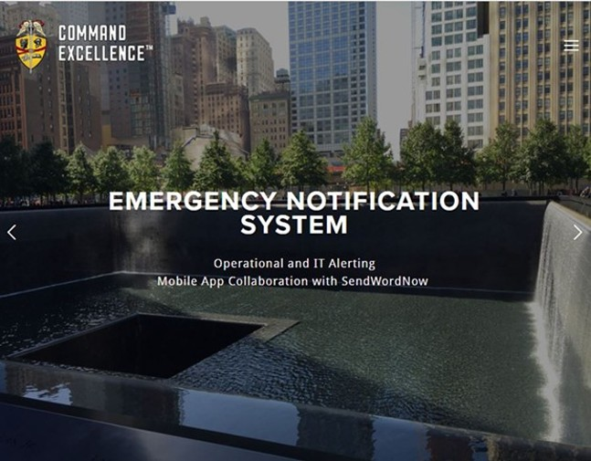 Screenshot of Command Excellence website of a photo of the 9/11 Memorial in New York City - SCREENSHOT FROM COMMANDEXCELLENCE.COM