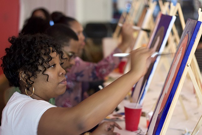 The Art Trap: Paint Night - PHOTO: VANIA EVANGELIQUE