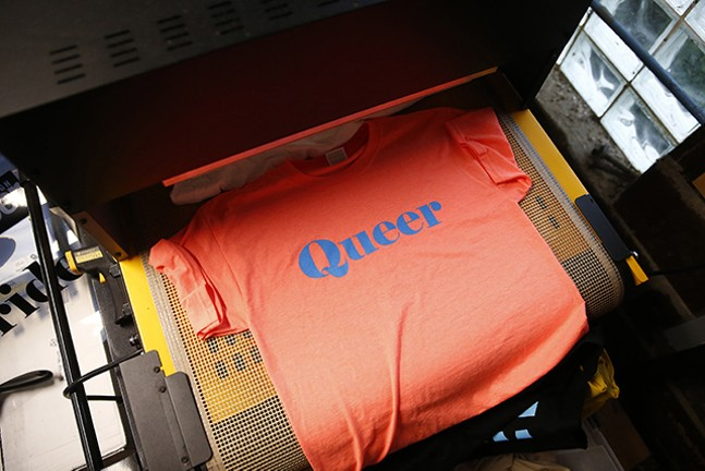 One of Etna Print Circus' screen-printed T-shirts - CP PHOTO: JARED WICKERHAM