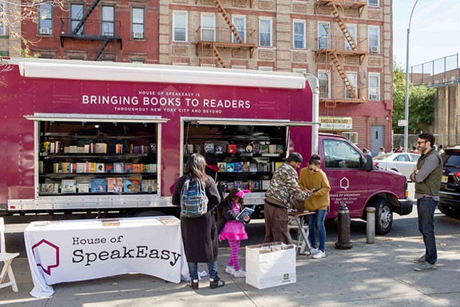 Poetry to the People tour will give out free books outside of Carnegie Library-Main. - HOUSE OF SPEAKEASY