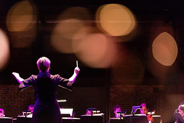 Maria Sensi Sellner conducts the Resonance Chamber Orchestra. - PHOTO: ALISA INNOCENTI