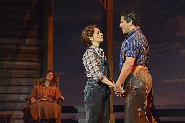 Ruth Gottschall, Sara Jean Ford, and Nicholas Rodriguez in Oklahoma! - PHOTO: ARCHIE CARPENTER