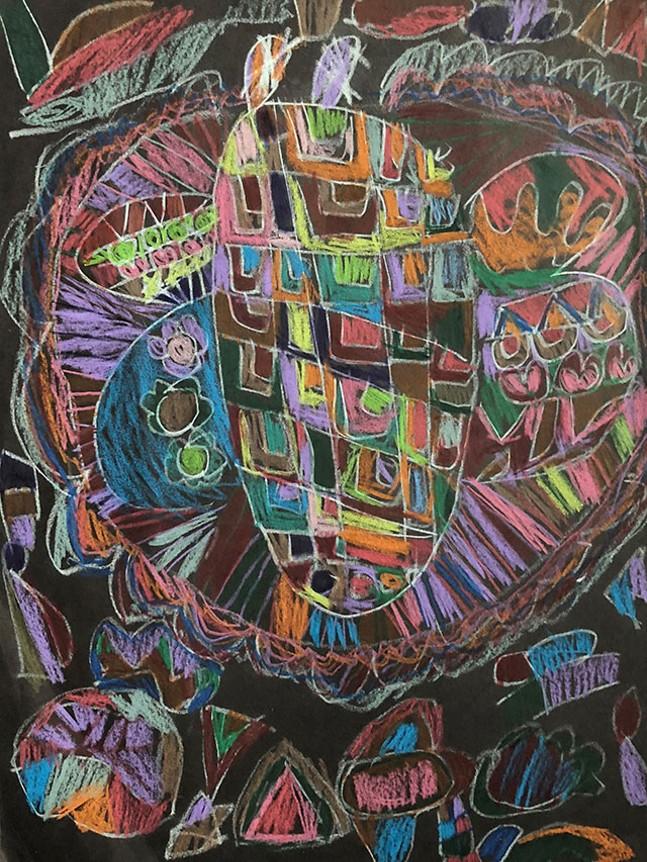 Rainbow Geometric Creature by Meghan Boyd - PHOTO: MEGHAN BOYD