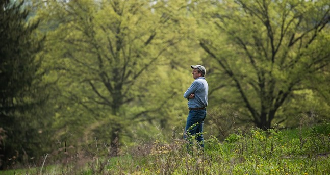 Tom Dougherty, ALT vice president of development and external affairs, at the Churchill Valley Country Club site. - PHOTO: LINDSAY DILL