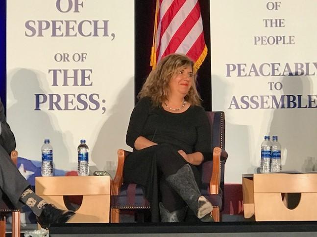Salena Zito at a talk at Duquesne University in 2018 - CP PHOTO: RYAN DETO