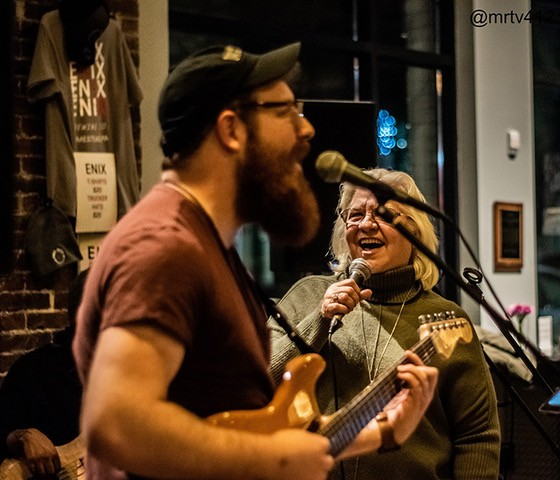 Casey Deely performing at That Was Dope! open mic - PHOTO: TYLER VIETMIER