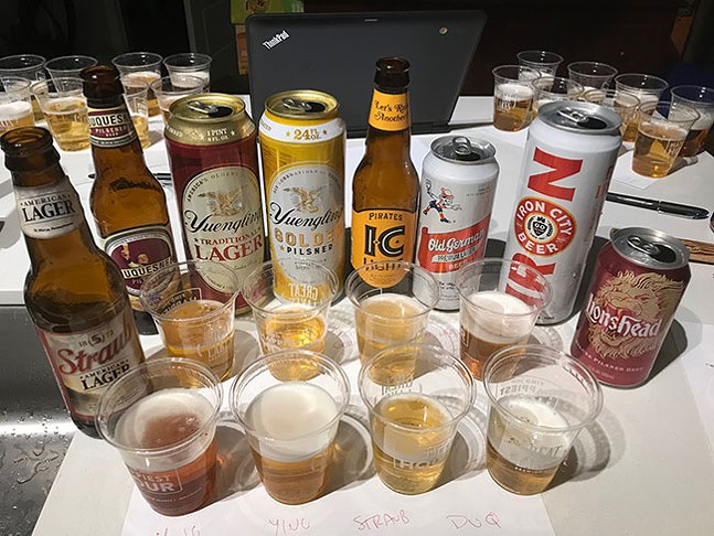 The tasting panel of Pennsylvania's inexpensive beers - CP PHOTO: RYAN DETO