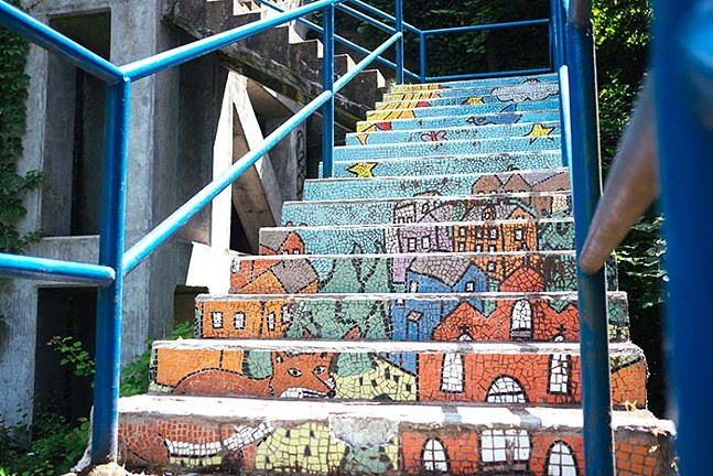 The mosaic public steps on Pittsburgh's South Side - CP PHOTO: JARED MURPHY