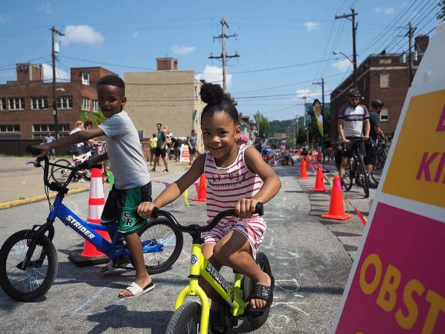Kids ride bikes during OpenStreetsPGH on Sun., July 28, 2019 - CP PHOTO: JARED MURPHY
