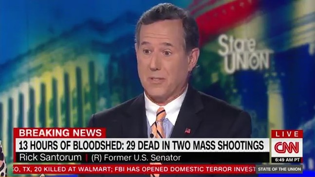 Rick Santorum - SCREENSHOT OF CNN