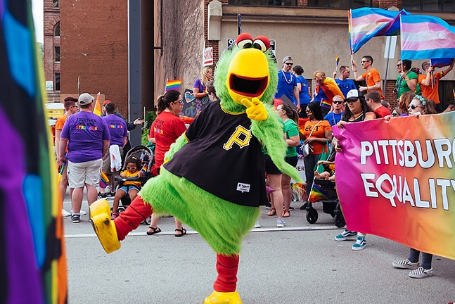 The Pirate Parrot in Pittsburgh's 2019 Pride Equality March - CP PHOTO: JARED MURPHY