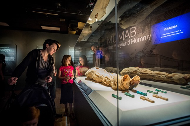 MUMAB, a modern-day mummy made with mummification techniques from Ancient Egypt - PHOTO: CARNEGIE SCIENCE CENTER