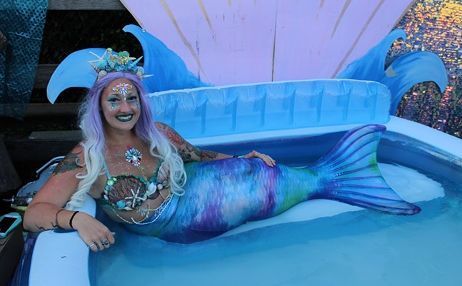 "Sarah ""Woshe"" Wasilewski as the Pittsburgh Mermaid - CP PHOTO: AMANDA WALTZ"