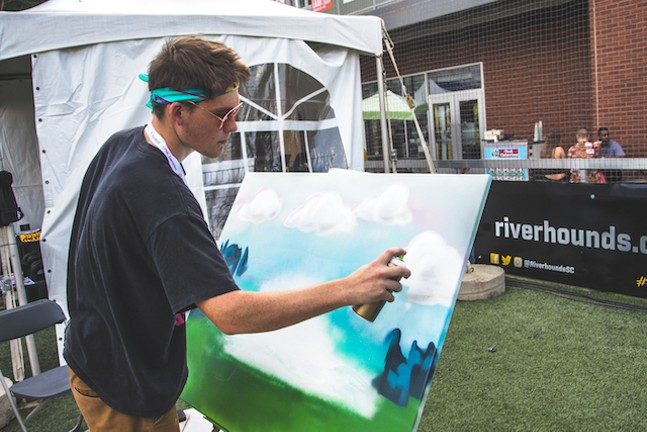 CamPaints working on a painting during Thrival 2018 - PHOTO: THRIVAL