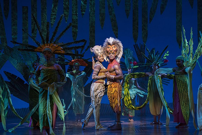 Nia Holloway and Jared Dixon in The Lion King - PHOTO: DEEN VAN MEER/DISNEY