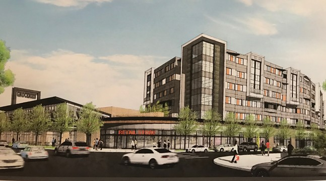 Drawing of proposed Echo development at Shakespeare Giant Eagle site - CP PHOTO: RYAN DETO
