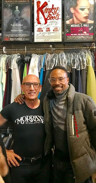 Parsakian with Porter at his store - PHOTO: RICHARD PARSAKIAN